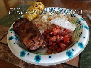 carne asada con chimol